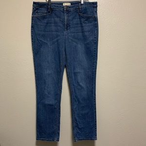 J Jill smooth fit straight Leg denim jeans